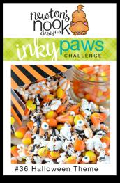 Newton's Nook Designs Inky Paws Challenge #36 - Halloween Theme